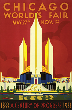 The Chicago World's Fair celebrated the city's centennial from 1933 to 1934